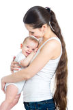 Mother with baby isolated Stock Image