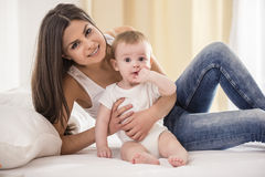 Mother with baby. Royalty Free Stock Images