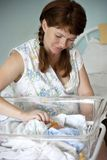 Mother and baby in maternity hospital Royalty Free Stock Image