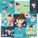 Mother and baby Mental & volition Royalty Free Stock Photo
