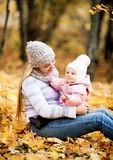Mother and baby outdoor Royalty Free Stock Photography