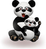 Mother and baby panda Royalty Free Stock Photos