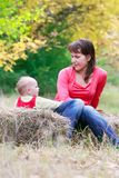 Mother and baby in park Stock Photography