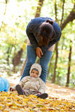 Mother with baby in the park Royalty Free Stock Image