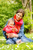 Mother with baby in the park Stock Image