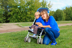 Mother and baby in the park Royalty Free Stock Image