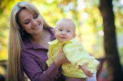 Mother with baby in park Royalty Free Stock Images