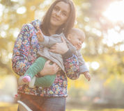 Mother with baby in the park Royalty Free Stock Photo