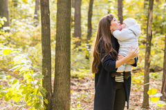 Mother and baby in park portrait Stock Image