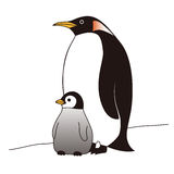 Mother and baby penguins standing together Stock Photo
