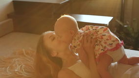 Mother and Baby stock video