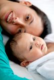 Mother and baby portrait Stock Photography