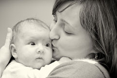 Mother and baby portrait Stock Photo