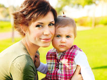 Mother and baby portrait Royalty Free Stock Image
