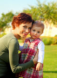 Mother and baby portrait Royalty Free Stock Images