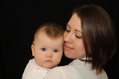 Mother and baby portrait Royalty Free Stock Photos