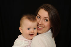 Mother and baby portrait Royalty Free Stock Photo