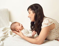 Mother with baby portrait, happy maternity concept Royalty Free Stock Photo