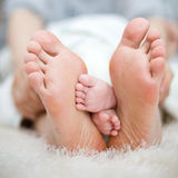 Mother and baby's foot Royalty Free Stock Photography