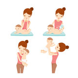 Mother And Baby Set royalty free illustration