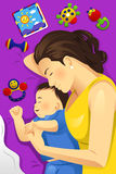 Mother Baby Sleeping Together Royalty Free Stock Photo