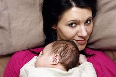 Mother and baby son Royalty Free Stock Photo