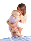 Mother with baby son Stock Image