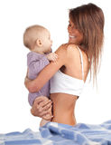 Mother with baby son Royalty Free Stock Photography