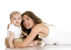 Mother and baby son royalty free stock photography