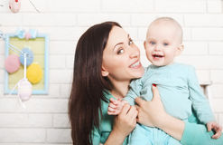 Mother and baby spending time together Royalty Free Stock Images