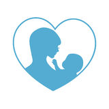 Mother and baby symbol Stock Photo