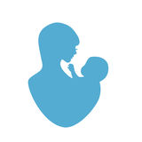 Mother and baby symbol Stock Photography