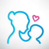 Mother and baby symbol Stock Images
