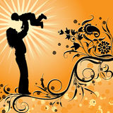 Mother background, vector Stock Images