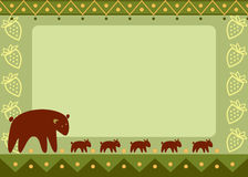 Mother bear with her kids, frame Stock Image