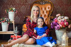 Mother with the beloved daughter Royalty Free Stock Images
