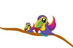 mother bird and child bird Stock Photos