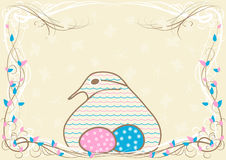 Mother bird pregnancy announcement card Royalty Free Stock Photo
