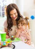 Mother With Birthday Girl At Home Royalty Free Stock Images