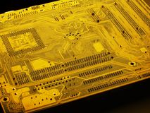 Mother board. Main circuit board in computer royalty free stock images