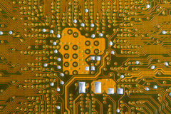 Mother board circuit. Large type of a back part of the printed-circuit board stock images