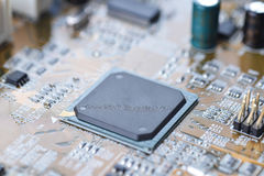 Mother board of computer Royalty Free Stock Photos