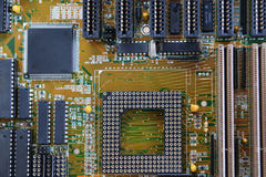 Mother board of computer Royalty Free Stock Image
