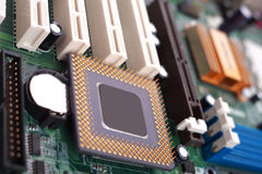Mother Board and Processor Royalty Free Stock Photography