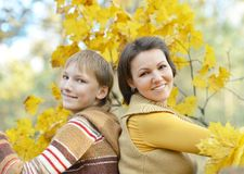 Mother with a boy Royalty Free Stock Photography