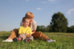 Mother with boy stock images