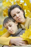 Mother with a boy Royalty Free Stock Photos