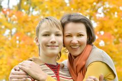 Mother with a boy Royalty Free Stock Photo