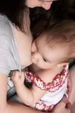 Mother breast feeding baby Stock Photos