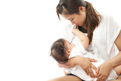Mother is breast feeding Royalty Free Stock Photo